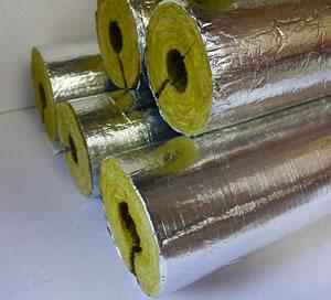 玻纤维铝箔岩棉管