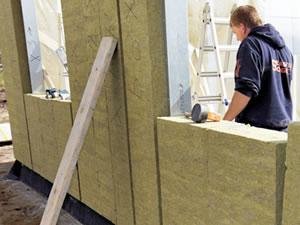 双层墙保温使用岩棉
